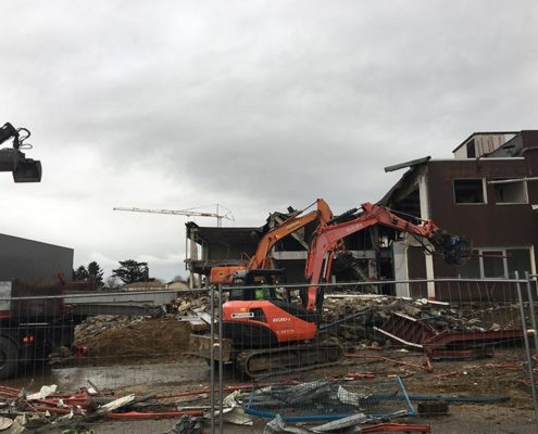 Travaux de démolition et de VRD pour la réhabilitation d'une Usine à Arnas
